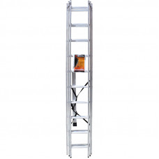 Лестница строительная трехсекционная алюминиевая 3х10