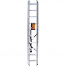 Лестница строительная трехсекционная алюминиевая 3х11