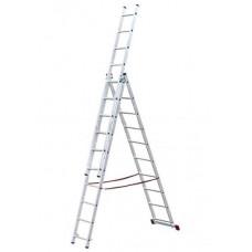 Лестница строительная трехсекционная алюминиевая 3х9