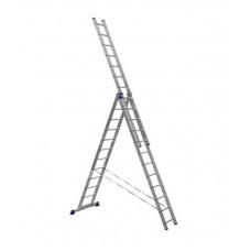Лестница строительная трехсекционная алюминиевая 3х12